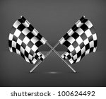 two crossed checkered flags ... | Shutterstock .eps vector #100624492