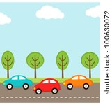 vector background with cars on... | Shutterstock .eps vector #100630072