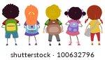 illustration of kids carrying... | Shutterstock .eps vector #100632796