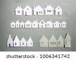 paper cut design. townhouses...   Shutterstock . vector #1006341742
