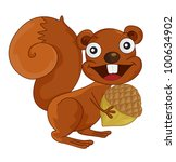 illustration of a squirrel on...   Shutterstock . vector #100634902
