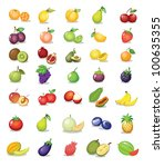 illustration of fruit on white... | Shutterstock . vector #100635355