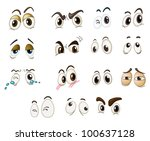 funny eyes on a white...   Shutterstock . vector #100637128