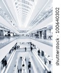 panoramic view of a modern mall | Shutterstock . vector #100640302