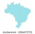 abstract blue map of brazil  ... | Shutterstock .eps vector #1006472752