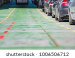 cars waiting in line on deck of ... | Shutterstock . vector #1006506712