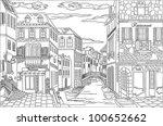 old city street. illustration. | Shutterstock . vector #100652662