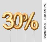 30  discount made of gold... | Shutterstock . vector #1006529392