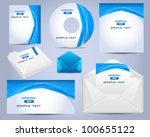corporate identity template... | Shutterstock .eps vector #100655122