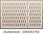 template for cutting. geometric ... | Shutterstock .eps vector #1006561702