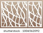 template for cutting. abstract... | Shutterstock .eps vector #1006562092