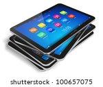 set of tablet computers... | Shutterstock . vector #100657075