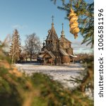 Small photo of Traditional Russian wooden church of the Resurrection from village of Patakino. The monument of Russian wooden architecture of the late XVIII century. Golden Ring Of Russia. Suzdal. Russia.