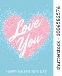valentines day card with pastel ... | Shutterstock .eps vector #1006582576
