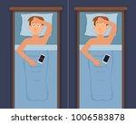 sleepless man face cartoon... | Shutterstock .eps vector #1006583878