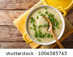 homemade diet egg soup with... | Shutterstock . vector #1006585765