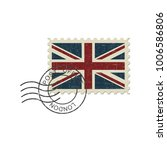 English Flag Postage Stamp And...