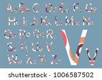 concept font design. modern... | Shutterstock .eps vector #1006587502