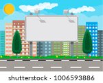 empty urban big board or... | Shutterstock .eps vector #1006593886