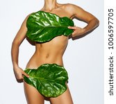 green leaf and body. bio... | Shutterstock . vector #1006597705