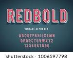 vintage modern font. vector | Shutterstock .eps vector #1006597798