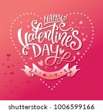happy valentines day hand drawn ... | Shutterstock .eps vector #1006599166