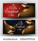 gift certificates with  gold... | Shutterstock .eps vector #1006599316