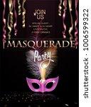 masquerade party invitation... | Shutterstock .eps vector #1006599322