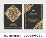 gold vintage greeting card on a ... | Shutterstock .eps vector #1006599382