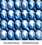 seamless diamond bejeweled... | Shutterstock .eps vector #1006601626