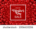 valentines day sale  discont... | Shutterstock .eps vector #1006610206