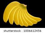 banana bunch. vector realistic... | Shutterstock .eps vector #1006612456