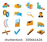 vector three dimensional icons. | Shutterstock .eps vector #100661626
