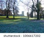 park on frosty morning