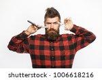 straight razor  barbershop ... | Shutterstock . vector #1006618216