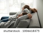 relaxed couple asleep resting... | Shutterstock . vector #1006618375