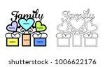 frame for family photos for... | Shutterstock .eps vector #1006622176