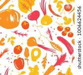 yellow red colored vegetable... | Shutterstock . vector #1006624456