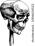 the skull is wearing a wooden... | Shutterstock .eps vector #1006624522