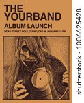 album launch poster flyer art... | Shutterstock .eps vector #1006625428