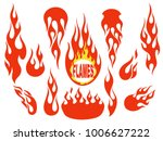 red fire  old school flame... | Shutterstock .eps vector #1006627222