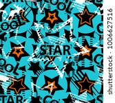 abstract seamless stars pattern ... | Shutterstock .eps vector #1006627516