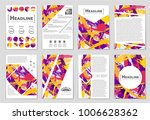 abstract vector layout... | Shutterstock .eps vector #1006628362