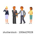 business team. cartoon flat... | Shutterstock .eps vector #1006629028