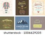 set of travel posters. vector... | Shutterstock .eps vector #1006629205