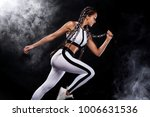 a strong athletic  woman... | Shutterstock . vector #1006631536