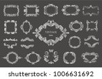 set of silver vintage floral...   Shutterstock .eps vector #1006631692