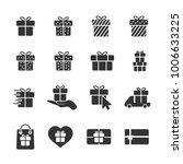 vector image of set of gift...   Shutterstock .eps vector #1006633225