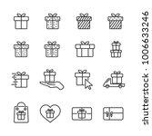 vector image set gift line... | Shutterstock .eps vector #1006633246