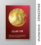 vector red and gold design... | Shutterstock .eps vector #1006633468